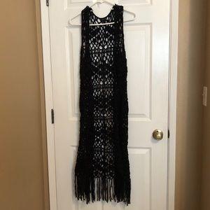 Black Crochet Tunic🖤